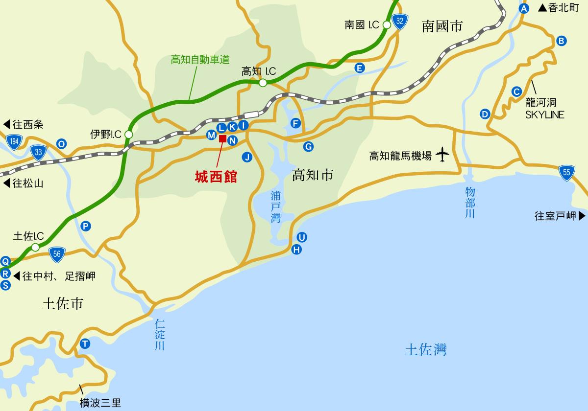 高知中心區地圖
